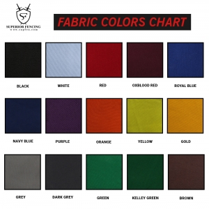 Fabric Colors chart