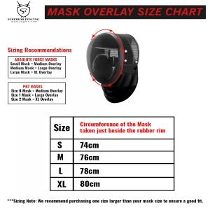 Mask overlay size chart